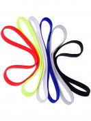 Shappy 6 Pieces Elastic Sport Headbands Yoga Headbands Head Sweatband for Women and Men, 6 Colours
