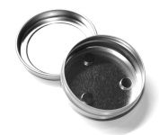 MagnaKoys 30ml Empty Magnetic Round Tin Containers with Slip Top Covers