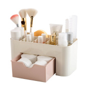 Plastic Cosmetic Container Makeup Organiser Storage Box With Drawers
