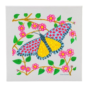 Butterfly Design - 30cm Square Wall Canvas