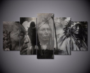 5 Pcs Native Indian Canvas - 5 piece American Native Indian Canvas For Your Home/Office Room