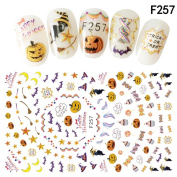 Baomabao Nail Art Decals Halloween Manicure Transfer Stickers