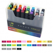 Meetory 24 Pcs Colour Pens for Painting Underlining Render Manga and Design