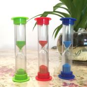 children's tooth brushing timer/3 minute hourglass/Shatter-resistant coloured sand mini plastic ornaments