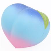 Galaxy peach fruit squishy