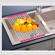 Kimanli Sink Storage Dish Drying Rack Holder Fruit Vegetable Drainer Colanders Kitchen