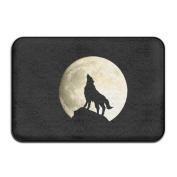 SVVOOD Wolf Moon Uprising Outdoor Indoor Antiskid Absorbent Bedroom Livingroom Bath Mat Bathroom Shower Rugs Doormats