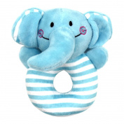 Aibearty Elephant Grasp Hand Rattle Toys Soft Rattles Ring for Baby Shower Gift