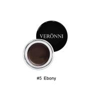 Eyebrow Cream, Natural Formulate, Waterproof and Long Lasting Eyebrow Pomade, Smooth Brow Makeup NetWeight20ml Ebony#5