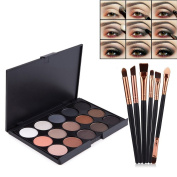 Vodisa Eyeshadow Palette 15 Waterproof Makeup Nature Glow Matte Eye Shadows Kits Professional Make Up Shimmer Eye Shadow Pallets with Eyes Makeup Brushes Set Beauty Cosmetics 15-1