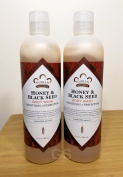 Honey & Black Seed Body Wash Set Smoothing Perfecting (2 Pack).. 080585090197 ..Softening Moisturising Cleanser Soap Shampoo Conditioner Bath Beauty Skin Softener Shea Butter Aloe Vera Makeup Product