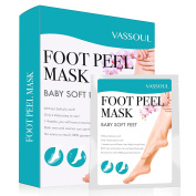 Vassoul Foot Peel Mask, Exfoliating Calluses and Dead Skin Remover, Baby Your Feet Naturally