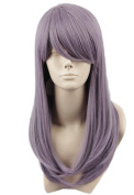 Topcosplay Cosplay Wig Long Synthetic Hair Full Wigs for Women 48cm Lilac Colour