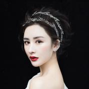 Yilanair Bridesmaid Jewellery 1920s headpiece Crystal Princess Crown Headbands for Women's Hair