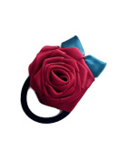 Grosgrain Ribbon Rose Hair Rope Rose flower Elastic Hair Ties