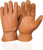 NEW TOP QUALITY REAL SOFT LEATHER MENS FSHION GLOVE WITH 70GRM THINSULATE TAN 087 SMALL