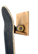 Bamboo Skateboard Wall Rack/ Mount for Storing Your Skateboard or Longboard Skate. Simple Design and Easy to Instal.
