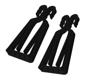KlipSki - Pair of Black Ski and Pole Carriers – Quick and Easy to Use for Experts and Children