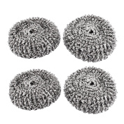 sourcingmap® Stainless Steel Kitchen Pan Wire Scouring Pad Scrubber 70mm Dia 2pcs