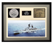 Navy Emporium USS Reeves CG 24 Framed Navy Ship Display Grey