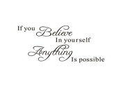 Winstory If You Believe In Yourself Anything Is Possible Wall Sticker Mural Decal For Home Nursery Decoration