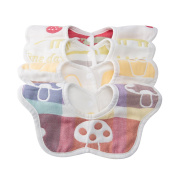Cute Baby Drool Bibs 4 Pack - Soft Breathable & Comfortable 100% Organic Cotton bibs - Bandana Drooling Scarf for Feeding Babies & Toddlers From 3 Month - 3 Years Kids | Reversible & Rotational Design bib