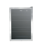 Haier HEBF100BXS Wine & Beverage Centre, Small, Stainless Steel