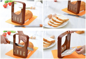 Vangoddy Compact Storage Foldable DIY Home Make Bread Toast Cutter Slicer with 4 Thickness Adjustable