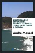 Bibliotheque de Geographie & Voyages; Paysages D'Italie, IV [FRE]