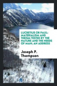 Lucretius or Paul