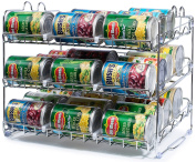 Stackable Can Rack Organiser, Storage for 36 cans - Great for the Pantry Shelf, Kitchen Cabinet or Counter-top. Stack Another Set on Top to Double Your Storage Capacity.