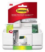 Command Under Sink Sponge Caddy, 1-Caddy, 4-Medium Strips + 1 Scotch-Brite Sponge Included