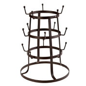 Tree Drying Vintage Rack Stand Retro Rustic Brown Iron Mug / Cup / Glass Bottle Holder Organiser [US STOCK]