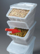 WTM CBCL-24 Stackable Bins with Hinged Lids, 22.7l, Pack of 3