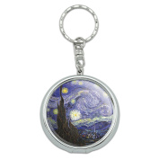 Portable Travel Size Pocket Purse Ashtray Keychain Art Paintings - Starry Night Vincent Van Gogh
