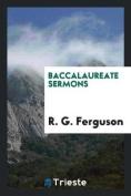 Baccalaureate Sermons