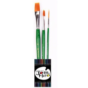 Joan Miro Paint Brush Set 3pcs Professional Paint Brushes Artist for Watercolour Oil Acrylic Painting