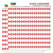 Canada National Country Flag 1.3cm (1.3cm ) Planner Calendar Scrapbooking Crafting Stickers - Clear