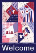 Toland Home Garden Patriotic Patches 32cm x 46cm Decorative USA-Produced Garden Flag