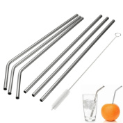 Stainless Steel Drinking Straws, Reusable Metal Drinking Straws with Cleaning Brushes for 30 590ml Yeti RTIC Tumbler Rambler Cups