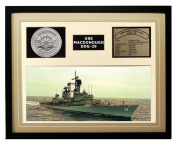 Navy Emporium USS Macdonough DDG 39 Framed Navy Ship Display Brown