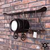 GFEI Retro aircraft, wall hangings, clocks, iron ornaments / wing fighter models / hooks, wall shelving tables,b