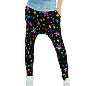 Juniors Stretch Waist Stars Pattern Fashionable Harem Yoga Pants