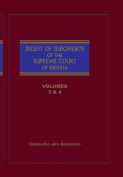 The Digest of Judgments of the Supreme Court of Nigeria