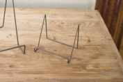 WIRE EASEL WITH RAW METAL FINISH - SMALL