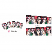 Quartly Halloween Women Nail Art Sticker Watermark Tattoos Nail Art Tips Nail Decoration