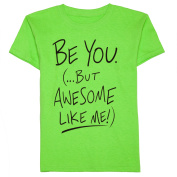 Boys' Awesome Like Me Short Sleeve Graphic Crew Neck T-Shirt