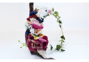 YAZILIND Flower Wreath Hair Accessory Garland Elegent Lace Bridal Headband for Women Wedding Festivals