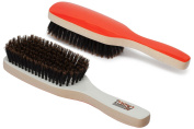 Torino Pro #410 /Boar Bristle Paddle Hair Brush / (EXTRA SOFT) Extra Long Natural Boar Bristles / Great for thinning hair,sensitive scalps and babies / Great 360 wave brush