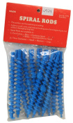 Spiral Perm Rods Small Long Blue